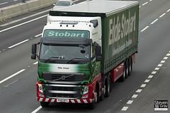 Volvo FH 6x2 Tractor - PX10 DFC - Tillie Violet - Eddie Stobart - M1 J10 Luton - Steven Gray - IMG_0422