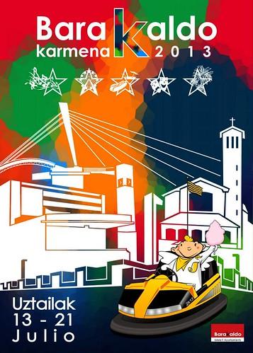 Cartel 2. Concurso Carteles de Fiestas de Barakaldo 2013