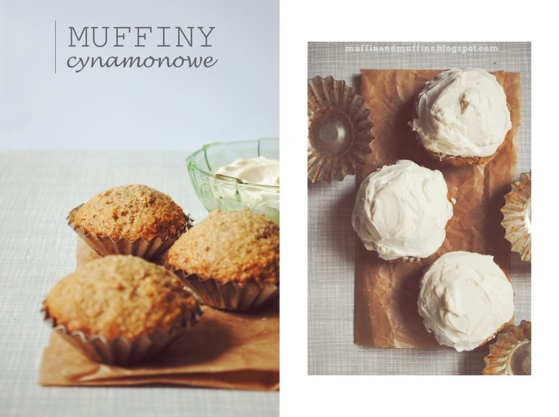 Cinnamon Muffins with Cream Cheese Frosting