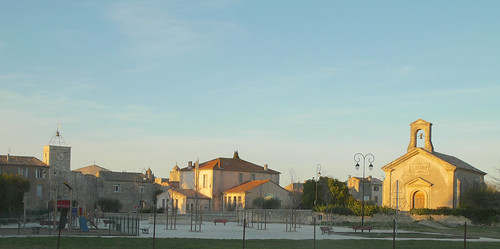 Nice evening view of our village Villevieille-France