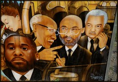 Grand River Creative Corridor: Detail, Mural of Four Detroit Mayors--Detroit MI