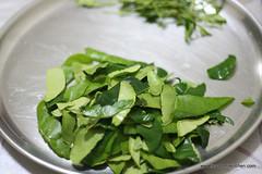 Kafir lime leaves