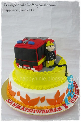 Fire engine cake for sanjaayshwarra