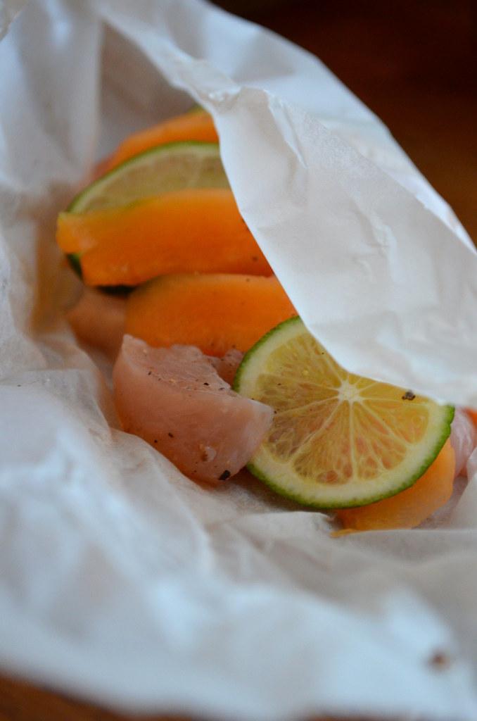 Papillotte melon / poulet