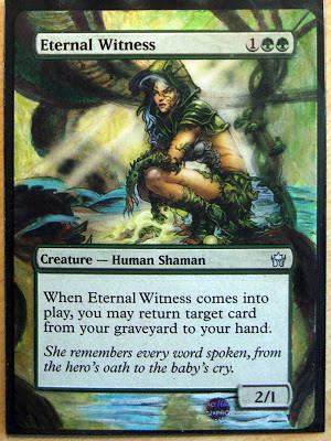 Eternal Witness Magic the Gathering altered art mtg alter S'Tsung