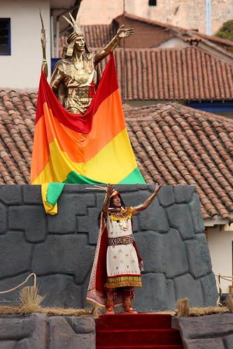 Inca en Inti Raymi