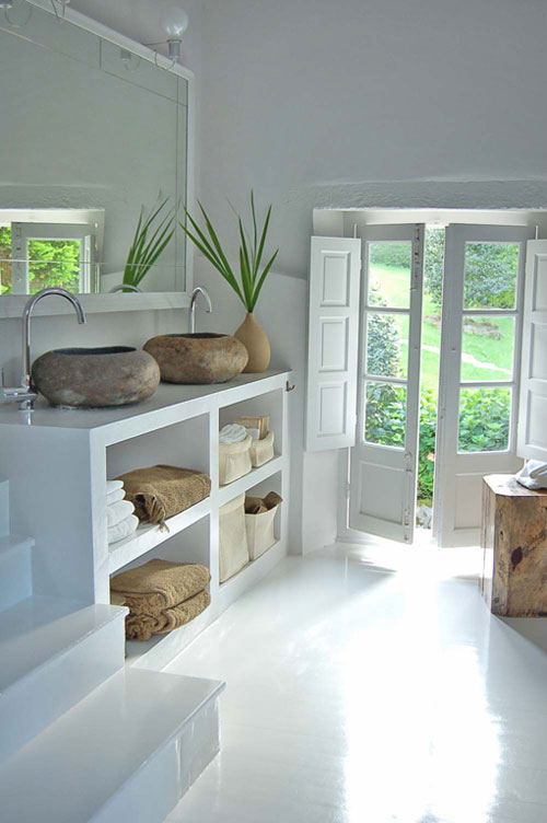 10 of the most beautiful bathroom sinks made of stone Most beautiful small bathrooms