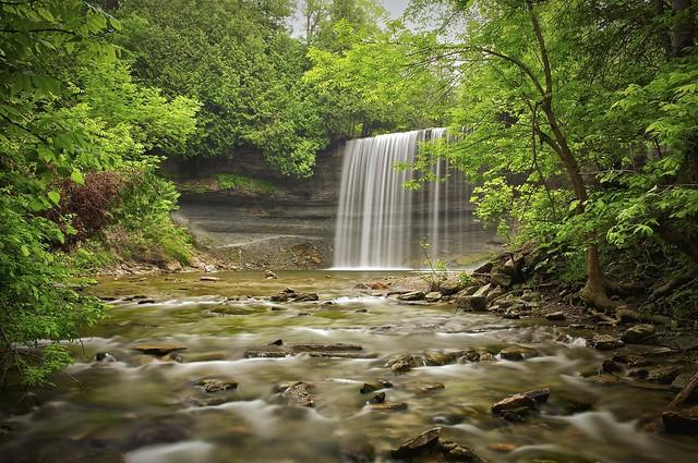 bridal veil falls, kagawong, manitoulin island, ontario