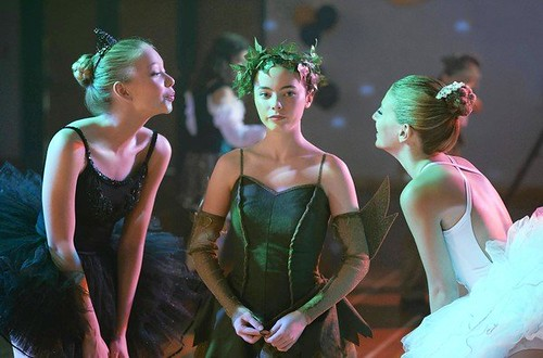 three teenage girls in tutus in hemlock grove
