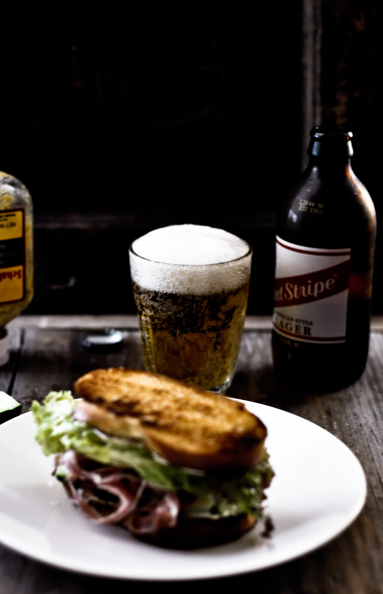 Beer with Sandwich