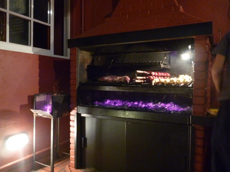 BBQ pit at my Buenos Aires hostel
