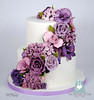 W9166-purple-flower-cascade-wedding-cake-toronto