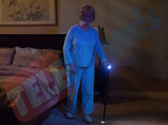 Trusty Cane has a built in LED light!