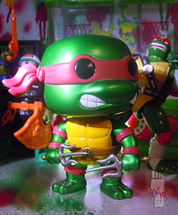 "FUNKO 'POP TELEVISION' :: TEENAGE MUTANT NINJA TURTLES - ""RAPHAEL"" #61 ;  Limited SDCC Exclusive Vynil Figure vii (( 2012 ))"