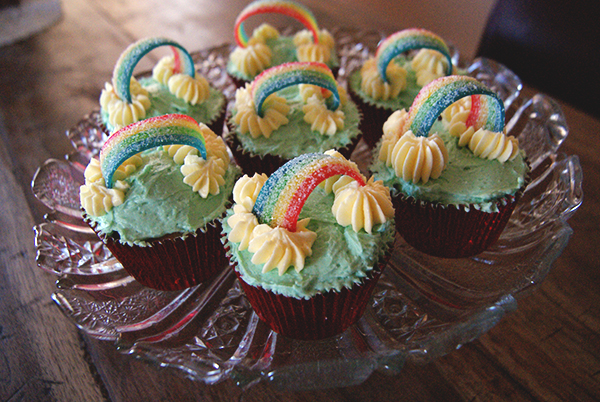 Cupcakes de arco-íris