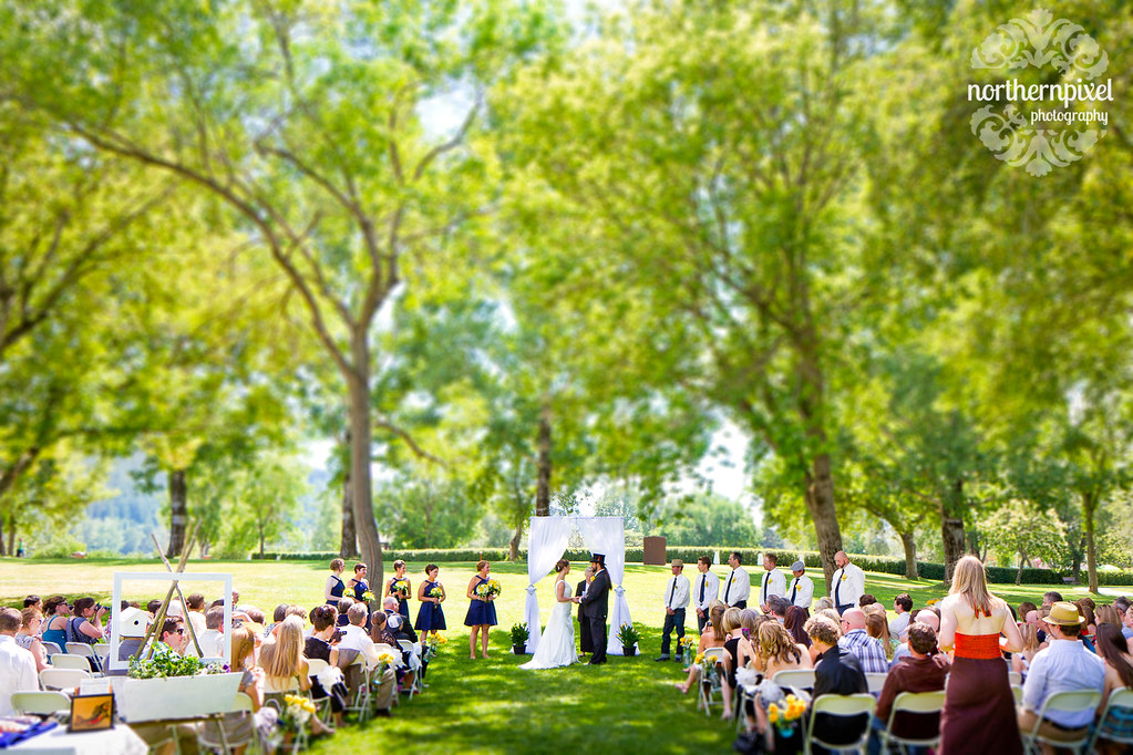 Wedding Ceremony at Fort George Park - in Prince George BC