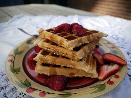 O is for Old-Fashioned Chelsea Waffles [Vegan Brunch] (0003)