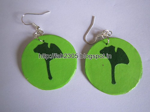 Handmade Jewelry - Paper Punch Earrings (4) by fah2305