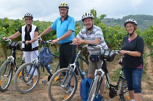 Glada cyklister från norr