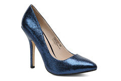 basic pump, footwear, shoe, high-heeled footwear, cobalt blue, electric blue,