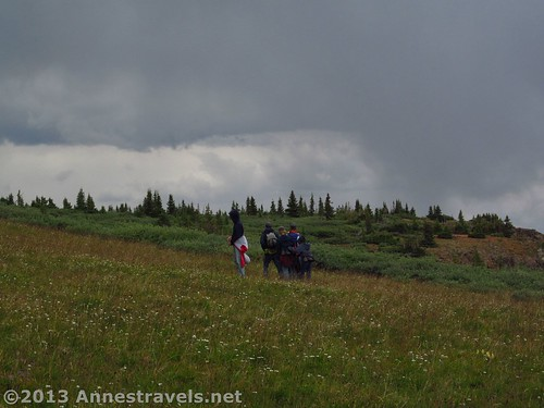 Thunder clouds on the Flat Tops of Colorado near Himes Peak