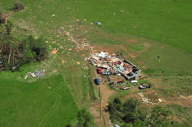 Tornado damage in Lincoln Co. from April 28, 2014