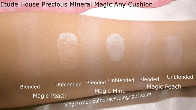 Etude House Precious Mineral Magic Any Cushion Swatches