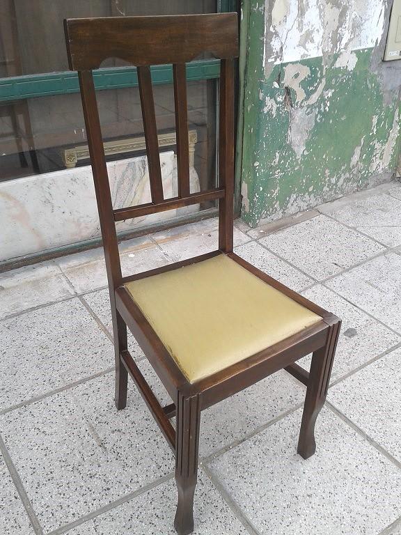 Silla de cedro muy antigua estilo ingl s asiento tapizado - Sillas estilo ingles ...