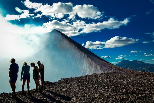 danger volcano crater nicaragua