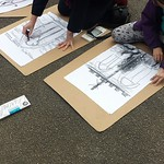 Drawing Class outdoors