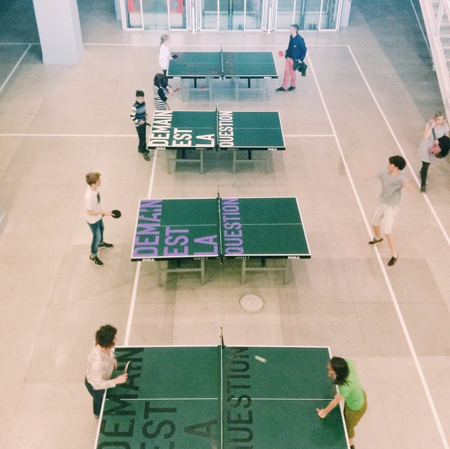 Ping Pong Party at the Pompidou Centre.
