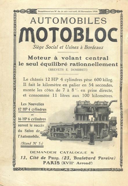 Je Sais Tout, No. 70, 15 Novembro 1910 - contra-capa