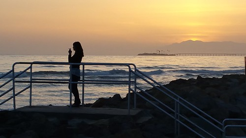 california sunset beach silhouette santabarbara pacific cellphone samsung hobsonpark noteedge
