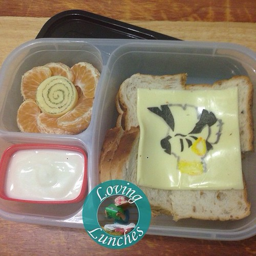 Loving being late… this is the lunch Miss M took today. Perfect excuse to use my new @easylunchboxes - Zebra black lid! A simple #Zecora #cheesart are #noricutting today. #easylunchboxes #mlp #MyLittlePony