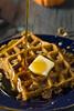 Homemade Pumpkin Spice Waffles
