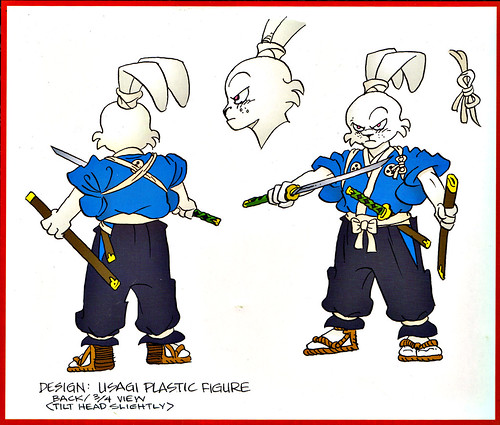 "DARK HORSE COMICS :: ""STAN SAKAI'S USAGI YOJIMBO"" PVC FIGURE ..box vii / back design art isolated (( 2003 }}"