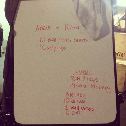 Back at the box this morning. Getting today's #wod on. #crossfit