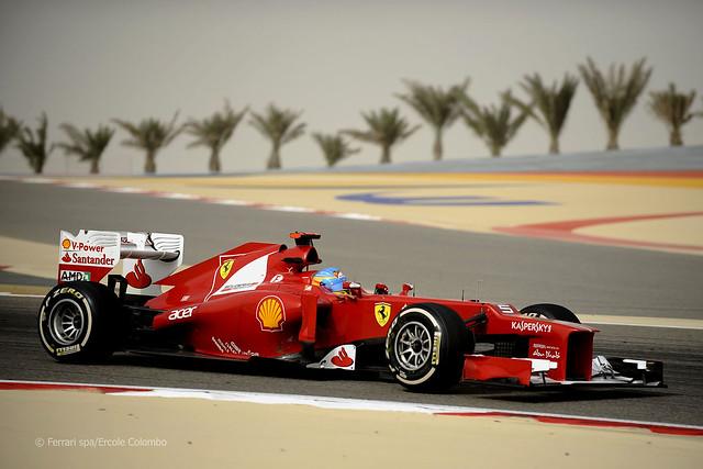 Fernando Alonso Ferrari F2012 F1 Bahrain 2012