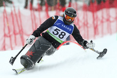 Josh Dueck in action in an IPC World Cup slalom in Panorama, B.C.