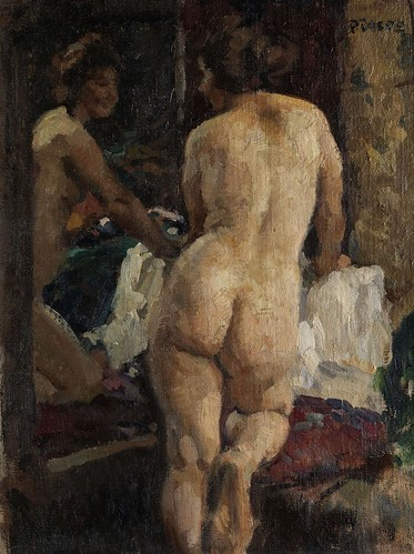 Paul Paede - Female Nude in the Mirror by Gandalf's Gallery