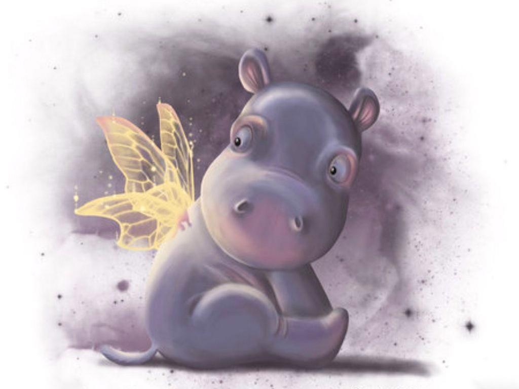 Hippo Bebê com Borborleta nas costas
