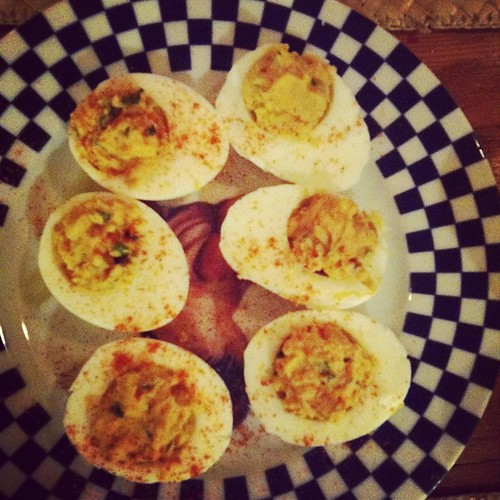 Chive and Caper Deviled Eggs | Sprint 2 the Table