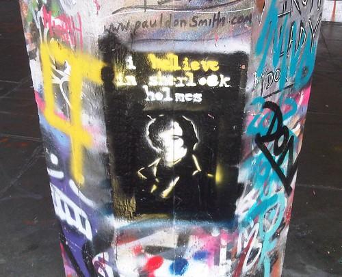 Sherlock graffitti