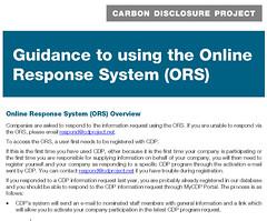 CDP網站企業回報的詳細指引