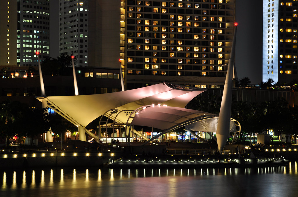 Outdoor Theater at Marina Bay, Singapore ...