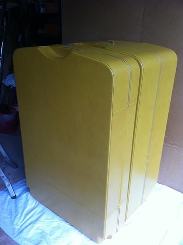 Calder custom suitcase standing