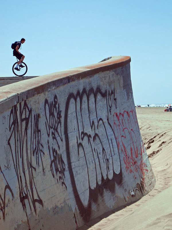 Josh on the sea wall