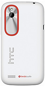 The HTC Desire V is available in Polar White and Stealth Black.