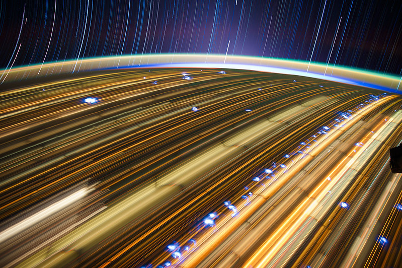 21 Brilliant Star Trails Captured from Space On-Board ISS