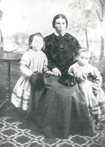 Elise Katherina Meng (nee Ellenberger) with Elizabeth & Mary Meng 1873